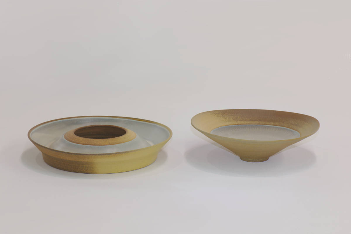 Doubled Walled Vessel 5 and Large Bowl 5