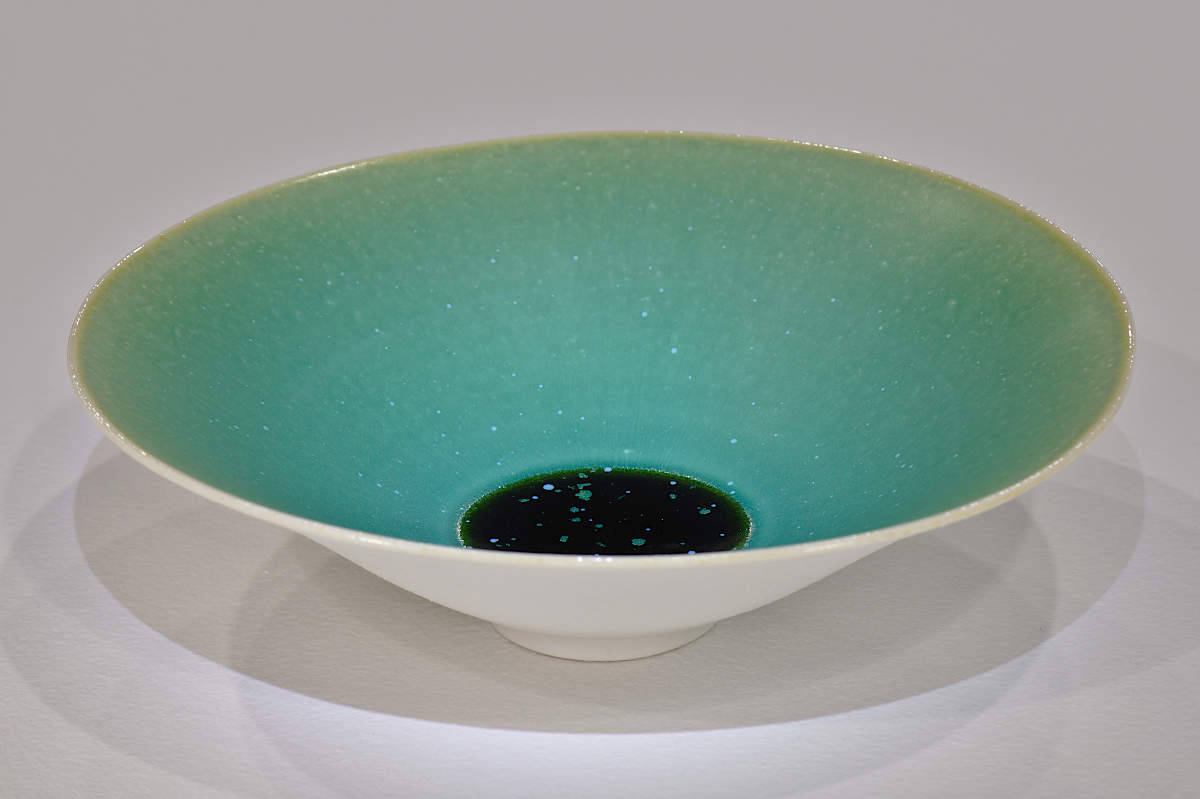 Porcelain Bowl Matt Crystalline Glaze
